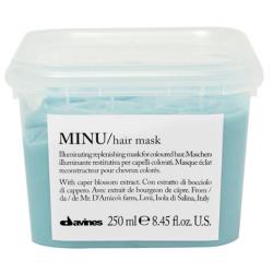 Rozświetlająca i odbudowująca maska do włosów farbowanych, MINU hair mask, Davines, 250ml