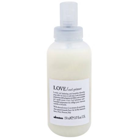 Nawilżające mleczko do układania włosów falowanych i kręconych, LOVE curl primer, Davines, 150ml